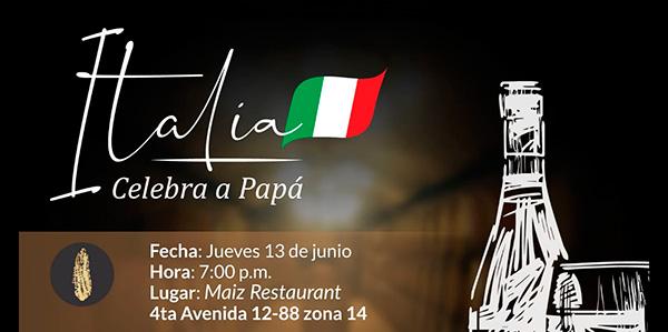 Cena Maridaje Italia celebra a papá
