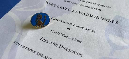 Certificación WSET nivel 2