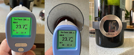 ¿Los termómetros infrarrojos funcionan con vino?
