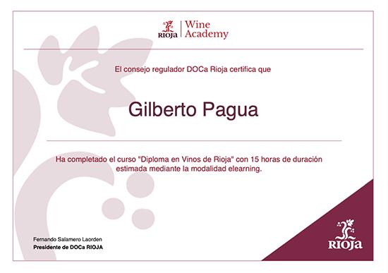 Diploma en Vinos de Rioja